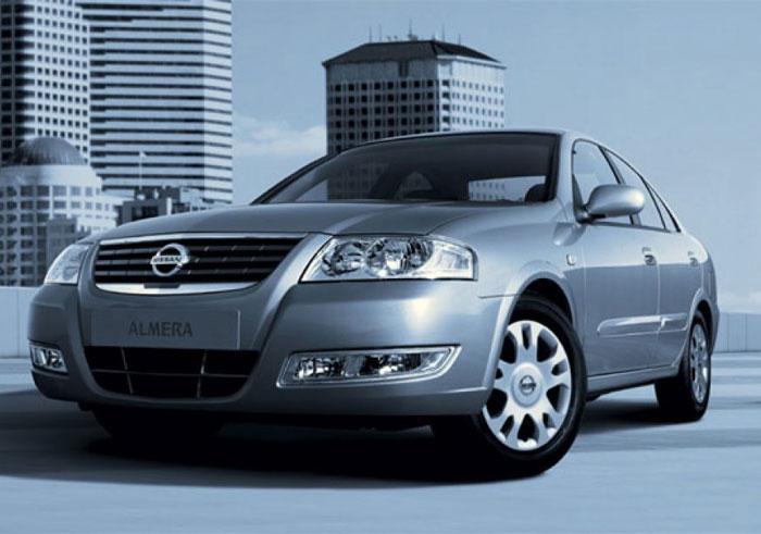Car rent Nissan Almera 2007 1.6 AT in Odessa